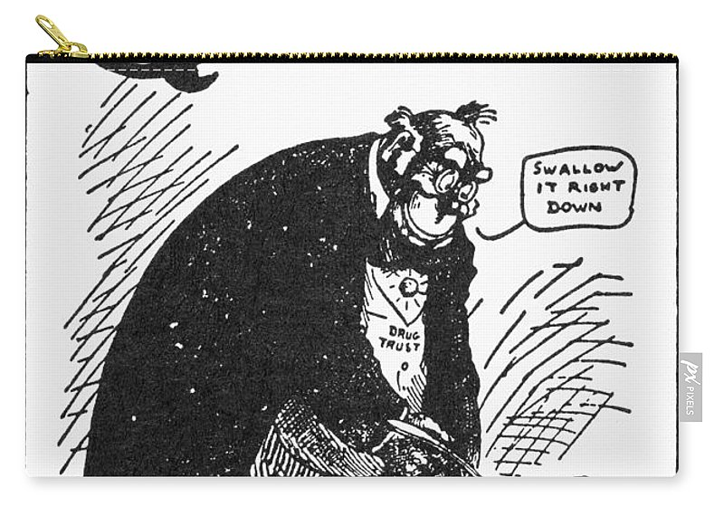 1902 Carry-all Pouch featuring the photograph Anti-trust Cartoon, 1902 by Granger