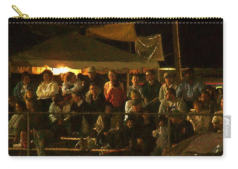 Audience Carry-all Pouch featuring the painting Anticipation by RC DeWinter