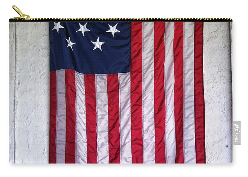 American Carry-all Pouch featuring the photograph Antique American Flag by Olivier Le Queinec