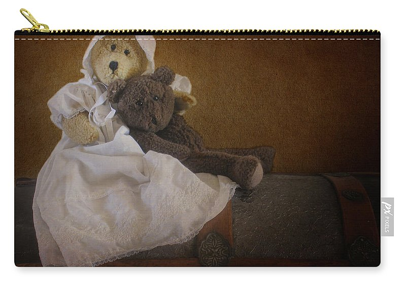 Teddy Bear Carry-all Pouch featuring the photograph Antique Bears by David and Carol Kelly
