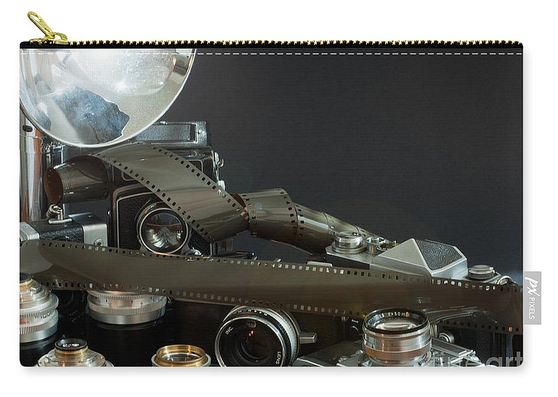 Analog Carry-all Pouch featuring the photograph Antique Cameras by Gunter Nezhoda