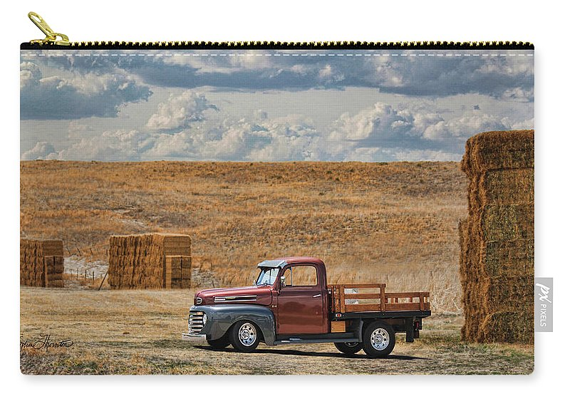 Antique Ford Truck Carry-all Pouch featuring the photograph Antique Ford Truck by Sylvia Thornton