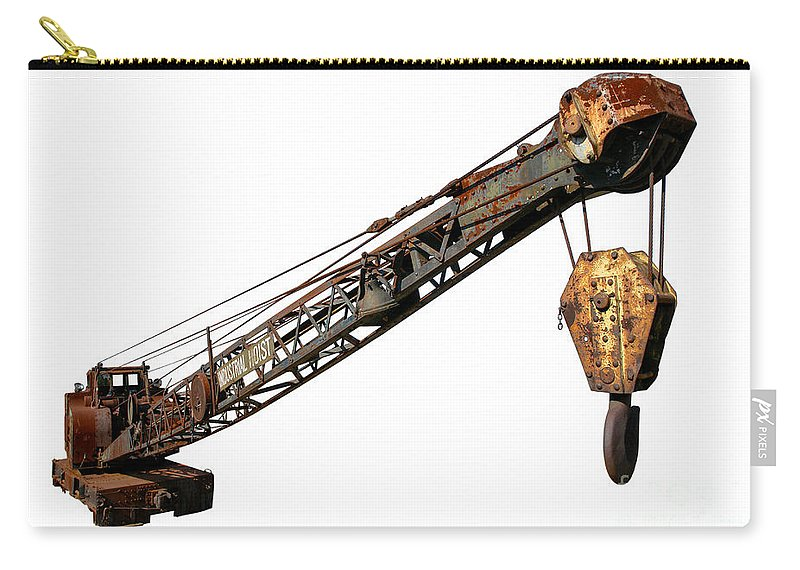 Hoist Carry-all Pouch featuring the photograph Antique Industrial Hoist by Olivier Le Queinec