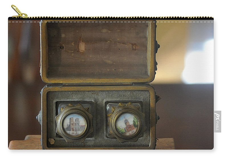 Wooden Box Carry-all Pouch featuring the photograph Antique Ink Wells by Jay Milo