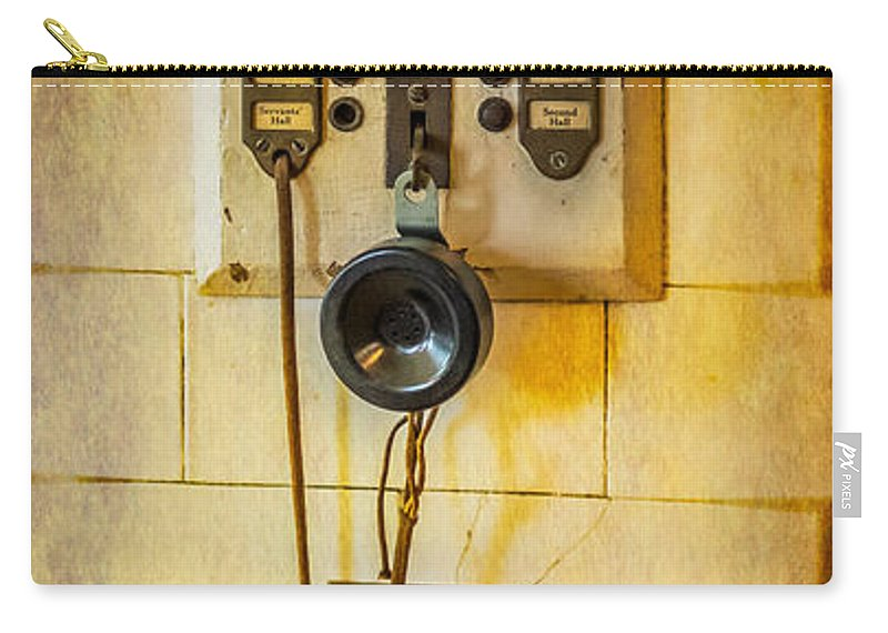 Intercom Carry-all Pouch featuring the photograph Antique Intercom by Paul Freidlund