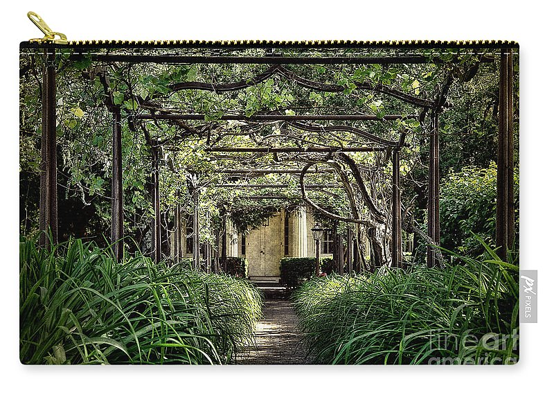 Pergola Carry-all Pouch featuring the photograph Antique Pergola Arbor by Olivier Le Queinec