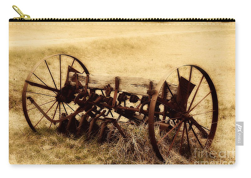 Antique Carry-all Pouch featuring the photograph Antique Plough by Douglas Barnard