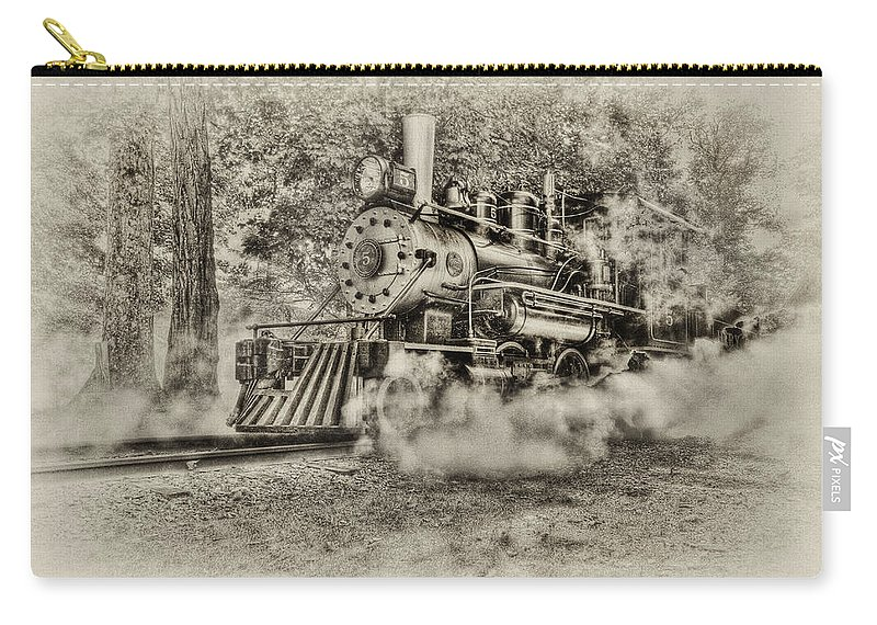 Train Carry-all Pouch featuring the photograph Antique Train by Bill Wakeley