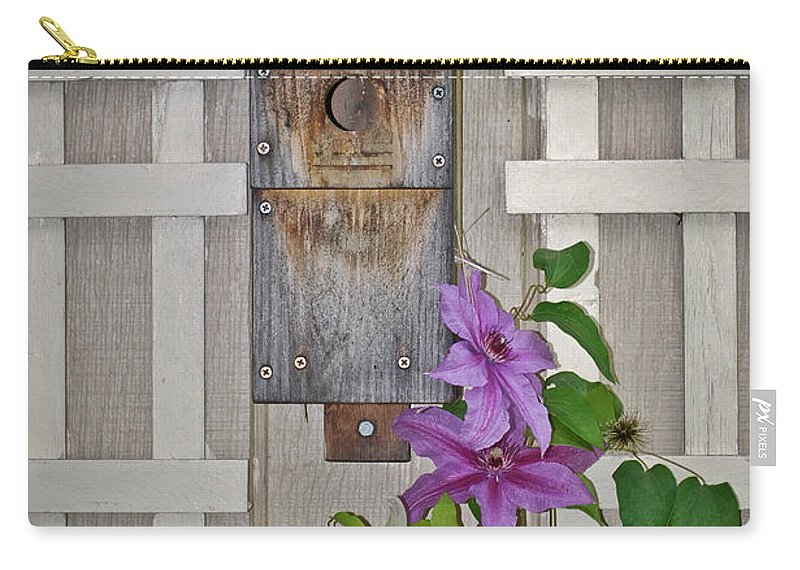 Birdhouse Carry-all Pouch featuring the photograph Anyone Home? by Pat Lucas