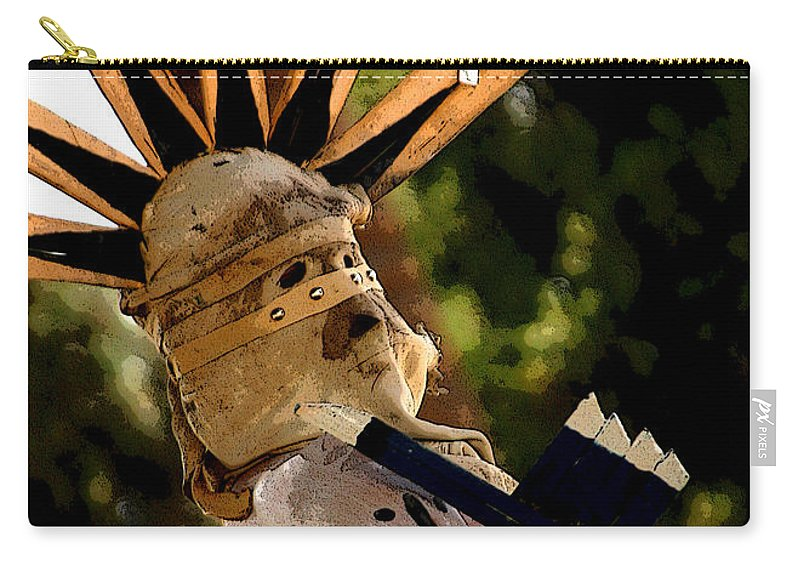 Pow Wow Carry-all Pouch featuring the photograph Apache Dancer by Joe Kozlowski
