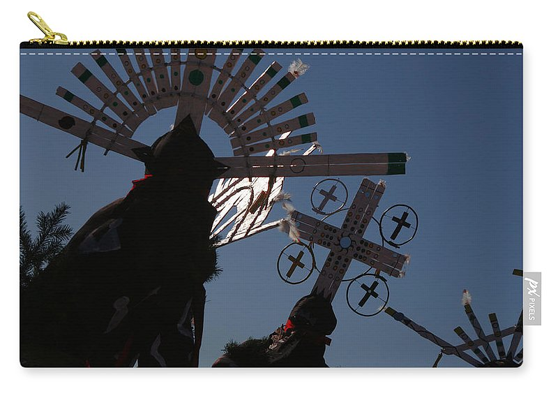 Dance Carry-all Pouch featuring the photograph Apache Dancers by Joe Kozlowski