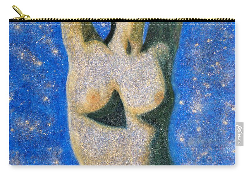 Augusta Stylianou Carry-all Pouch featuring the painting Aphrodite by Augusta Stylianou
