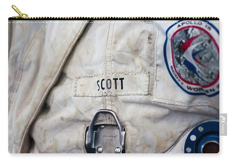 Nasa Carry-all Pouch featuring the photograph Apollo Lunar Suit by Christi Kraft