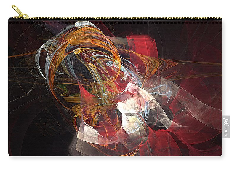 Abstract Carry-all Pouch featuring the digital art Aponebulous by Kevin Round