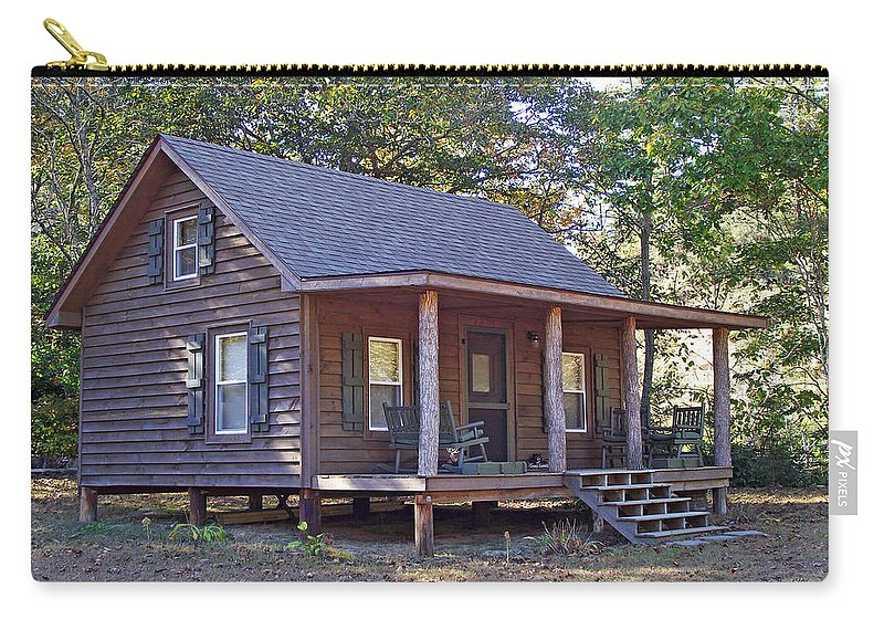 Cabin Carry-all Pouch featuring the photograph Appalachian Cabin by Duane McCullough