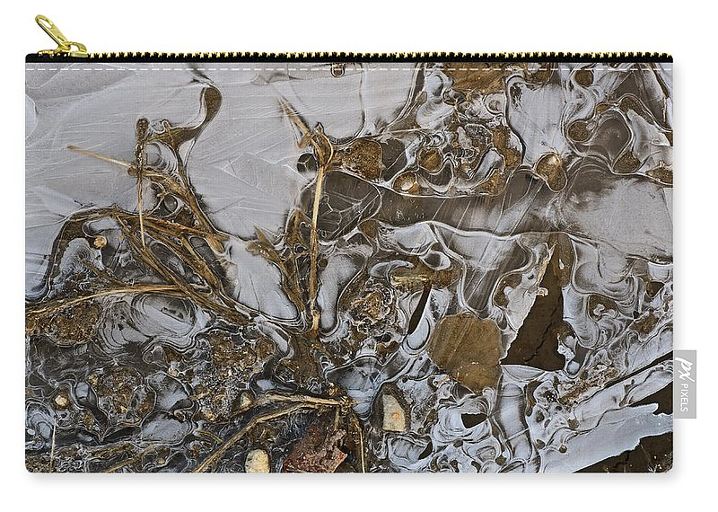 Ice Carry-all Pouch featuring the photograph Apparitions On Ice by Susan Capuano