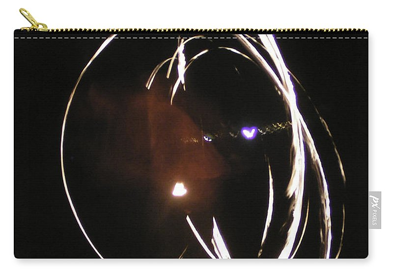 Fire Carry-all Pouch featuring the mixed media Apperate by Lovejoy Creations