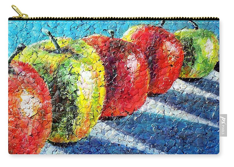 Sue Delain Carry-all Pouch featuring the painting Apple A Day by Susan DeLain
