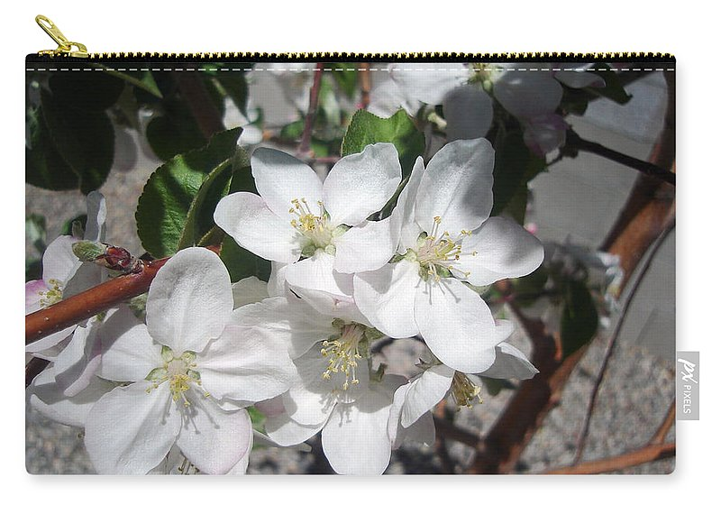 Flower Carry-all Pouch featuring the photograph Apple Blossoms 2 by Lovina Wright