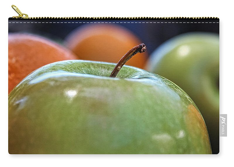 Apple Carry-all Pouch featuring the photograph Apple by Helaine Cummins