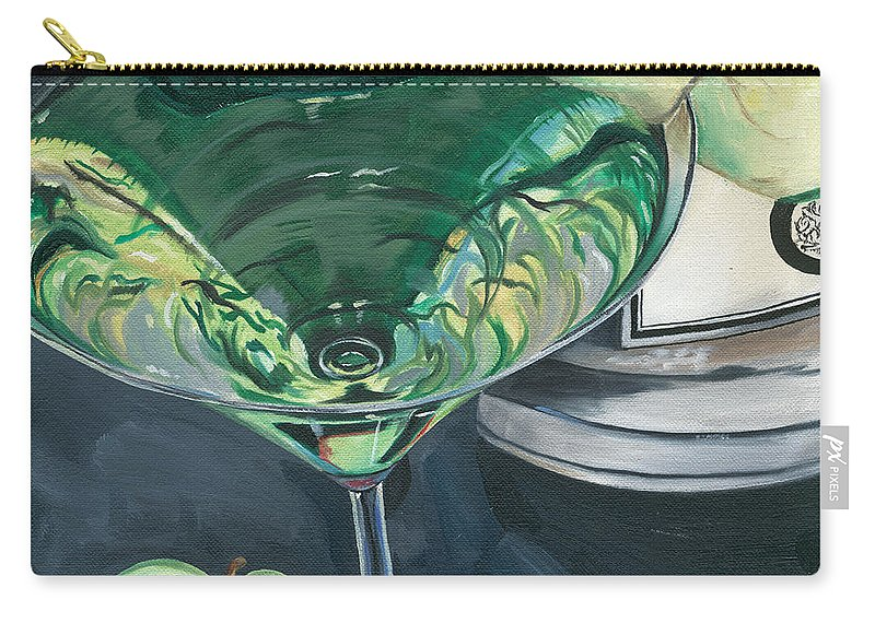 Apple Carry-all Pouch featuring the painting Apple Martini by Debbie DeWitt