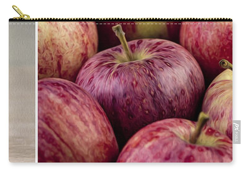Panorama Carry-all Pouch featuring the photograph Apples 01 by Nailia Schwarz