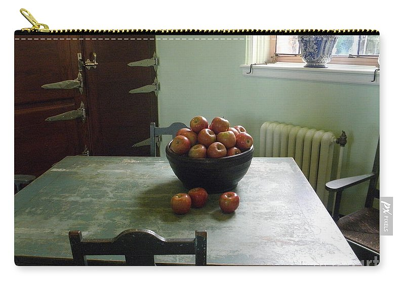 Apples Carry-all Pouch featuring the photograph Apples by Valerie Reeves