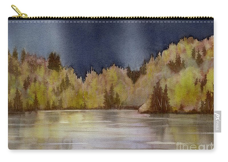 Storm Carry-all Pouch featuring the painting Approaching Rain by Lynn Quinn