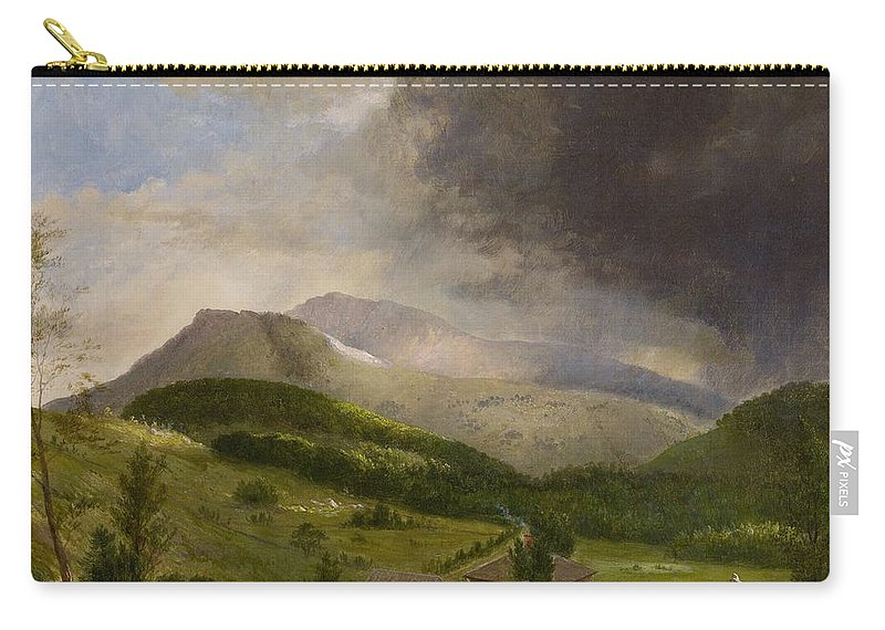 Couple Carry-all Pouch featuring the painting Approaching Storm White Mountains by Alvan Fisher