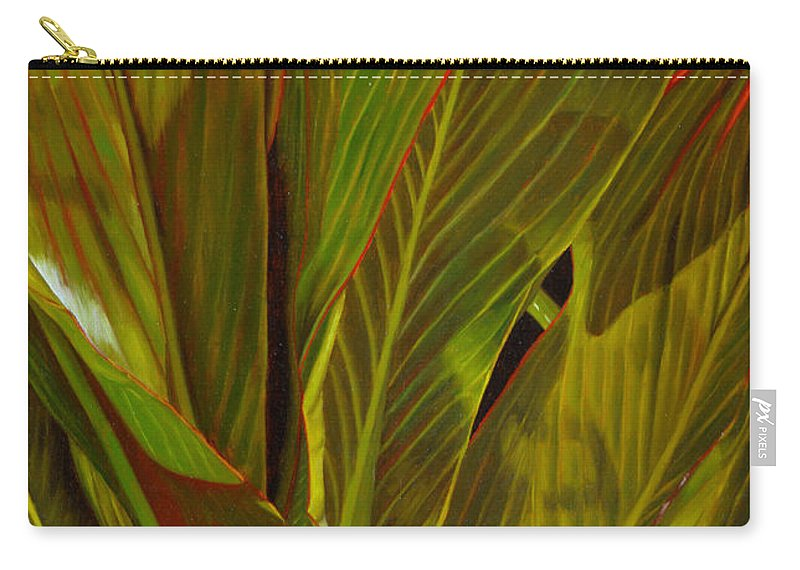 Plant Carry-all Pouch featuring the painting April by Thu Nguyen