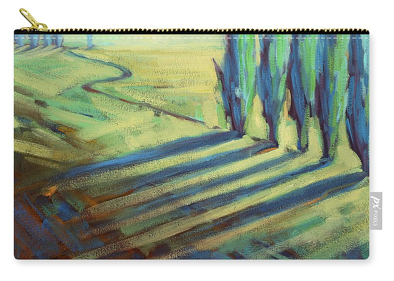 California Carry-all Pouch featuring the painting Aqua by Konnie Kim