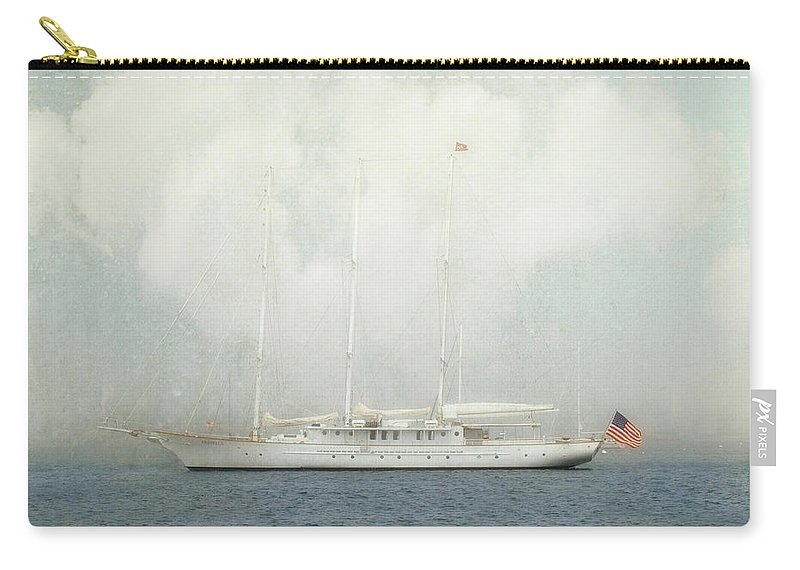 Arabella Carry-all Pouch featuring the photograph Arabella On Newport Harbor by Karen Lynch