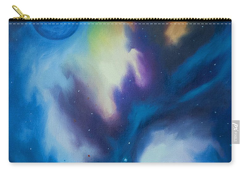 Planet Carry-all Pouch featuring the painting Aramon Nebula by James Christopher Hill