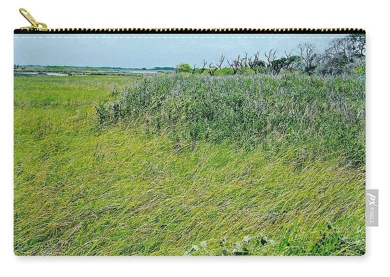 Texas Carry-all Pouch featuring the photograph Aransas Nwr Coastal Grasses by Lizi Beard-Ward