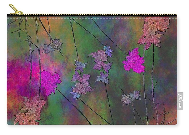 Tree Carry-all Pouch featuring the digital art Arbor Autumn Harmony 4 by Tim Allen