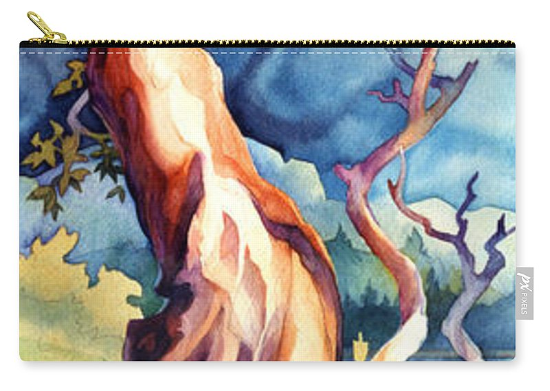 Trees Carry-all Pouch featuring the painting Arbutus Twist by Dianne Bersea