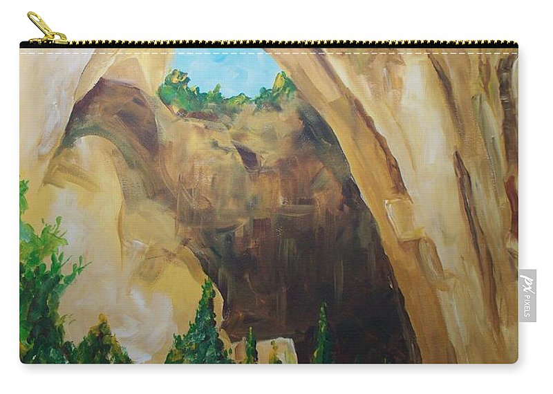 Floral Carry-all Pouch featuring the painting Arch by Eric Schiabor