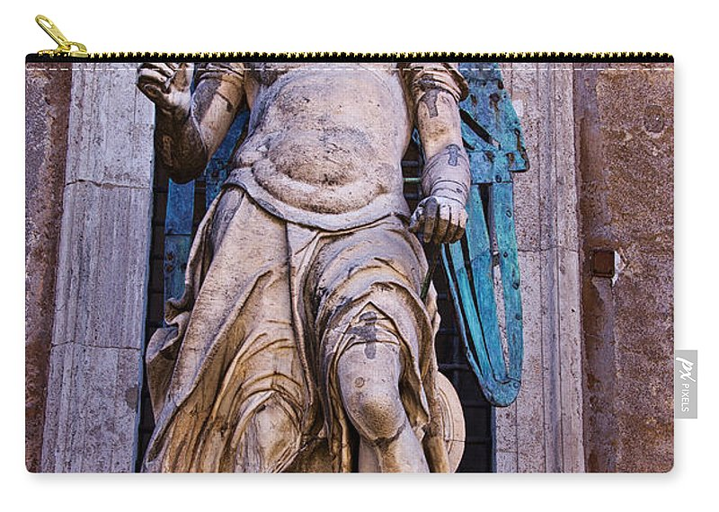 Archangel Carry-all Pouch featuring the photograph Archangel Michael by David Pringle