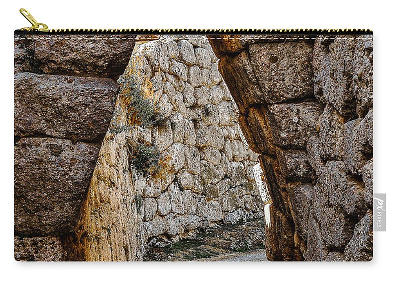 Medieval Carry-all Pouch featuring the photograph Arched Medieval Gate by Dany Lison