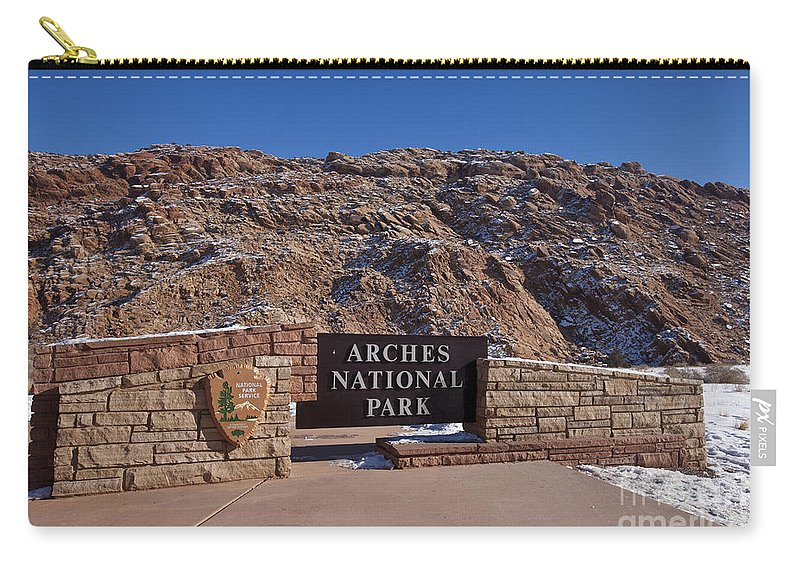 Arches Carry-all Pouch featuring the photograph Arches National Park Utah by Jason O Watson