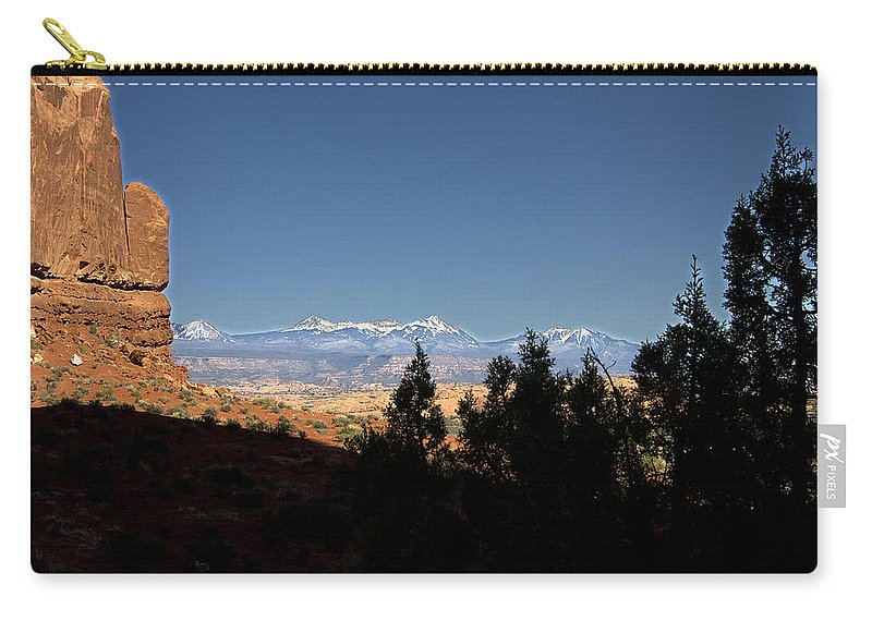 Arches.national Carry-all Pouch featuring the photograph Arches National Park Utah by Peter Lloyd