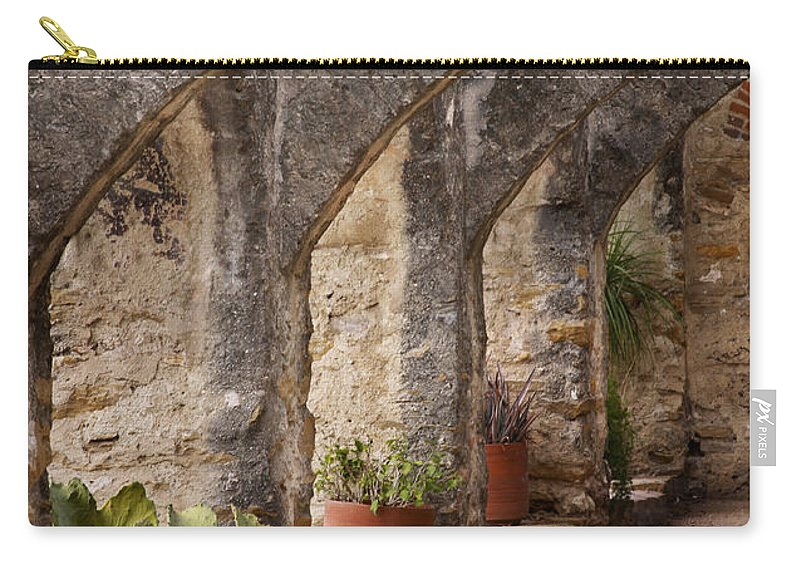 Arches Carry-all Pouch featuring the photograph Arches Of San Jose by David and Carol Kelly