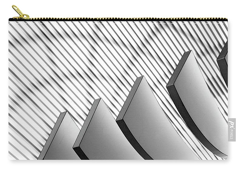 Shadow Carry-all Pouch featuring the photograph Architectural Abstract 4 - Interior Of by Lubilub