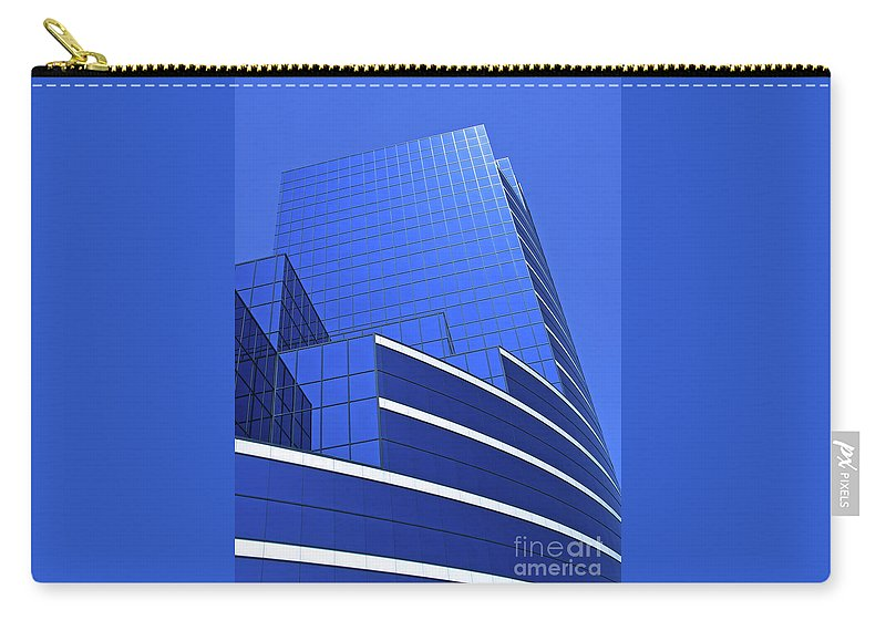 Architecture Carry-all Pouch featuring the photograph Architectural Blues by Ann Horn