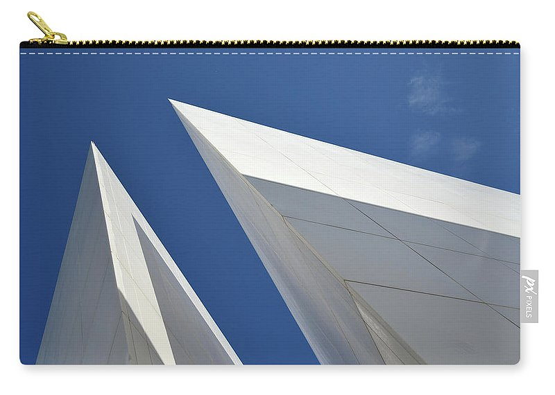 Tranquility Carry-all Pouch featuring the photograph Architectural Details by Martial Colomb