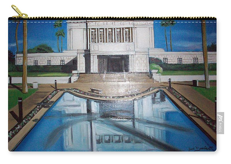 Carry-all Pouch featuring the painting Architectural Landscape by Jude Darrien