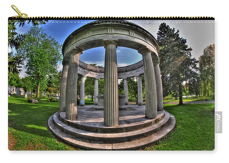Forest Lawn Carry-all Pouch featuring the photograph Architecture Of Forest Lawn by Michael Frank Jr
