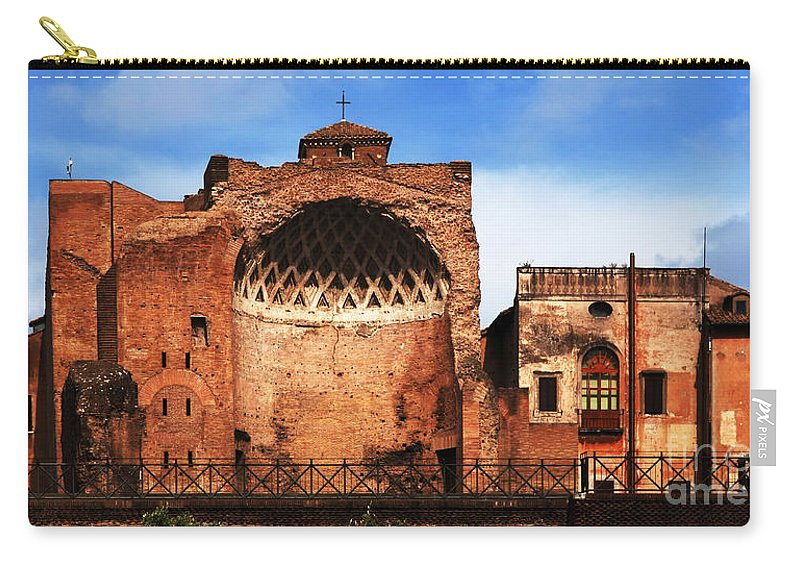 Italy Carry-all Pouch featuring the photograph Architecture Of Italy by Bob Christopher