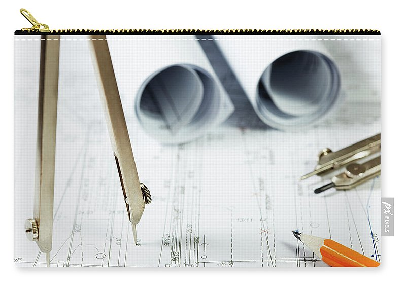 Civil Engineering Carry-all Pouch featuring the photograph Architecture Planning by Kalasek