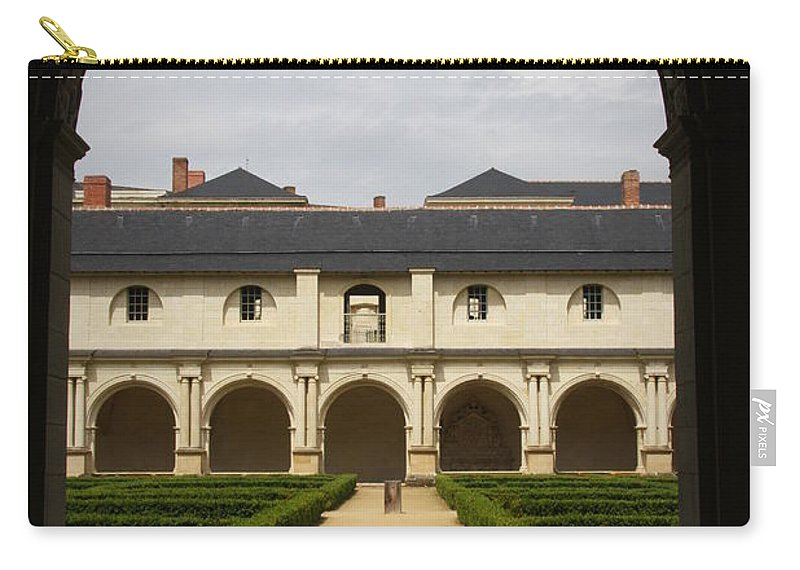Doorway Carry-all Pouch featuring the photograph Archview To The Courtyard - France by Christiane Schulze Art And Photography